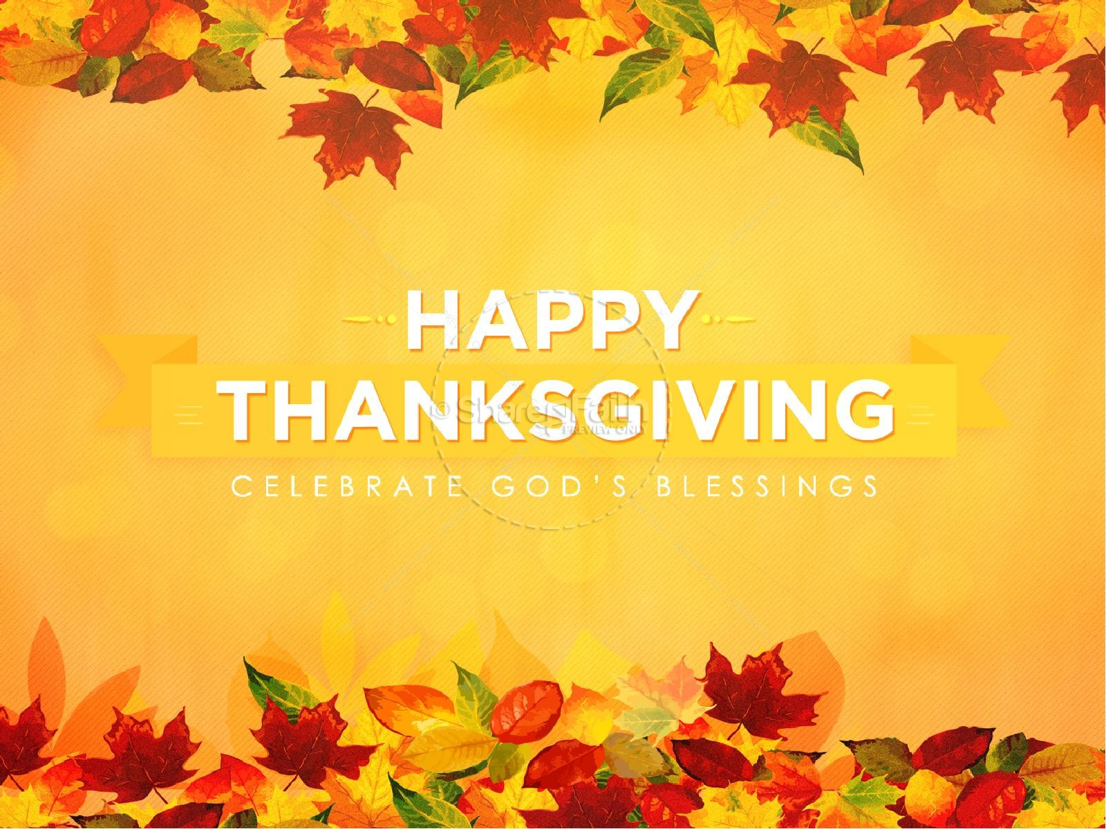 Happy Thanksgiving Blessings Wallpaper