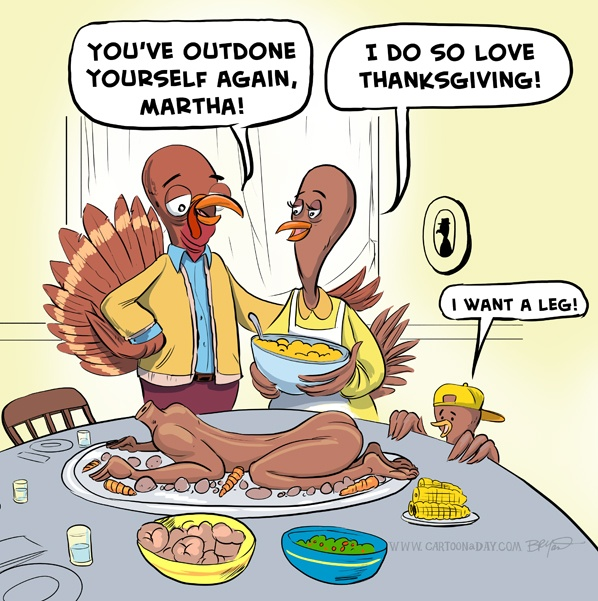 Happy Thanksgiving Cartoon Images