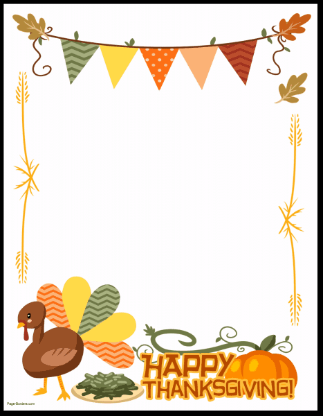 Thanksgiving Border Clipart Images