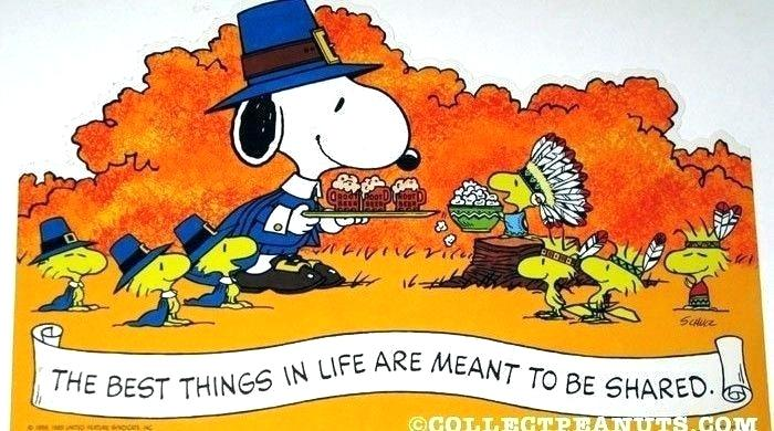 Happy Thanksgiving Peanuts Images