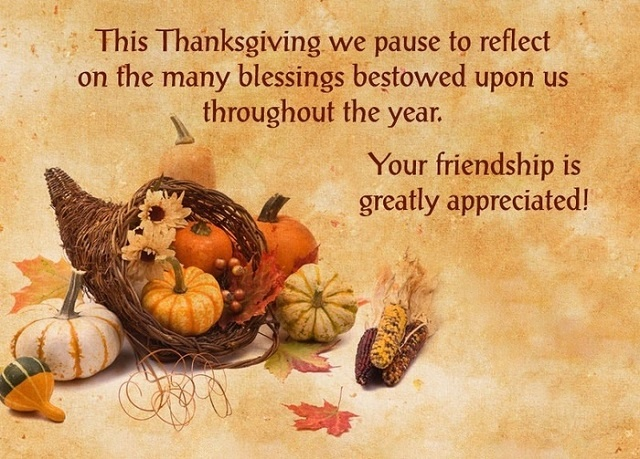 Thanksgiving Wishes For Friends